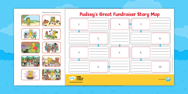 Pudsey's Great Fundraiser Story Map
