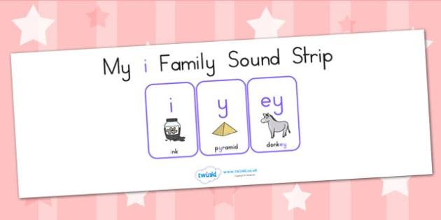 My I Family Sound Strip - sound family, visual aid, literacy