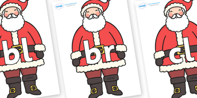 Initial letter blends on father christmas initial letters initial letter blends on father christmas initial letters initial letter letter blend spiritdancerdesigns Images