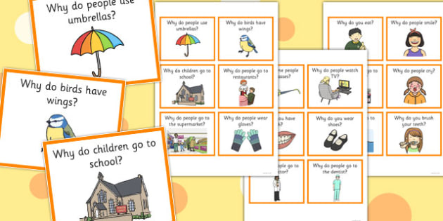 Why Question Cards - why, question, cards, question cards, sen