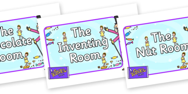 Role Play Signs to Support Teaching on Willy Wonka's Chocolate Factory - role play signs, role play, signs, willy wonka, chocolate factory, story book, chocolate, factory