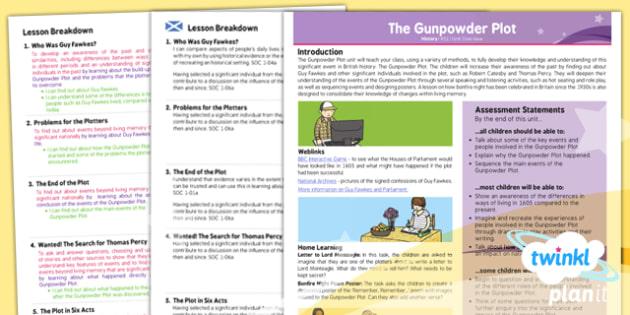 History: The Gunpowder Plot KS1 Planning Overview CfE