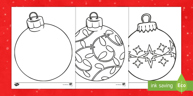 Christmas Ornaments Coloring Sheets Teacher Made