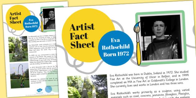 Artist Fact Sheet Eva Rothschild - eva rothschild, artist, fact