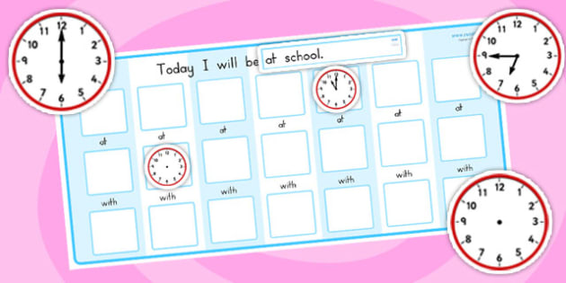 Routine Chart Pack With Place Time Person - routine, time, place