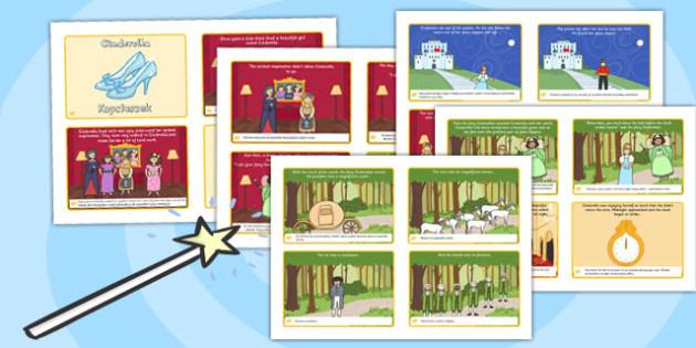 Cinderella Story Sequencing 4 per A4 Polish Translation - polish, cinderella