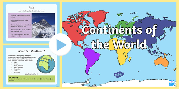 Continents of the World PowerPoint - Australian Curriculum ...