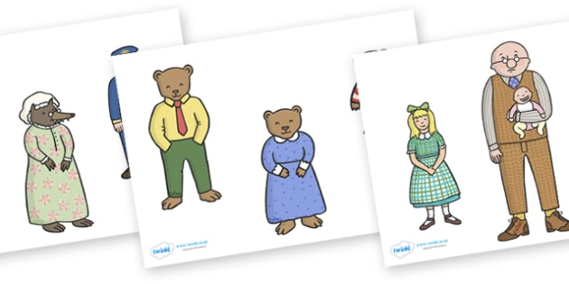 Stick Puppets to Support Teaching on The Jolly Postman - blue, postman, jolly, letter, Janet Ahlberg, Cinderella, stick puppets, puppets, story, story book, book resources, Three Bears, wolf, gian, goldilocks, postcard, witch, palace