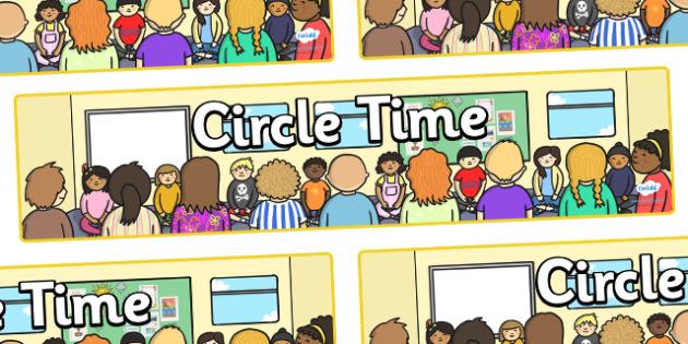 Circle Time Display Banner - Circle time, PSHE, SEAL, carpet time, circle, display banner, display