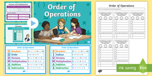 Order Of Operations Bodmas Bidmas Teaching Pack Order