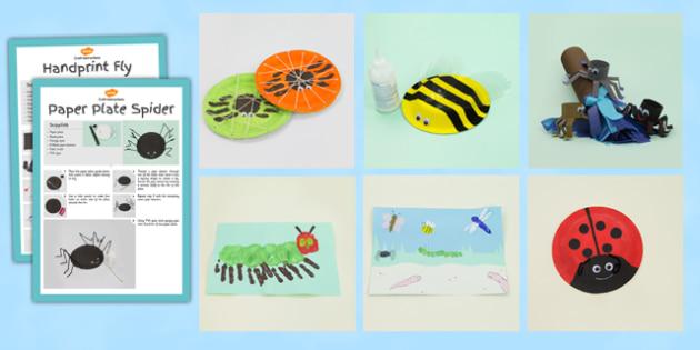 Minibeasts Craft Activity Pack - minibeast, crafts, activities