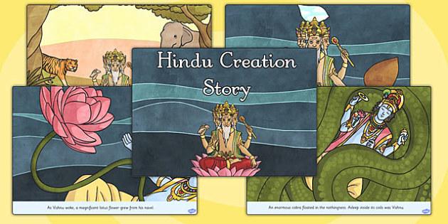 Hindu Creation Story Cards - Hindu Mythology Resources