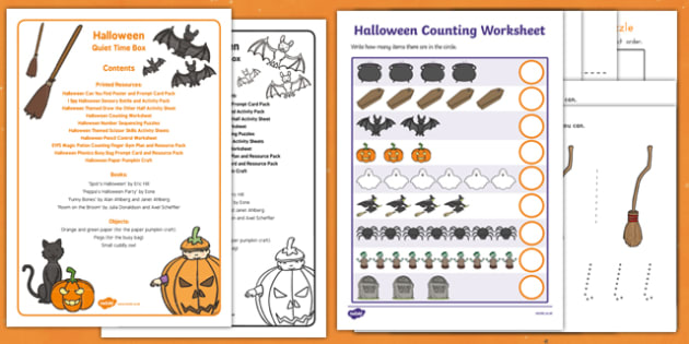 Halloween Quiet Time Box