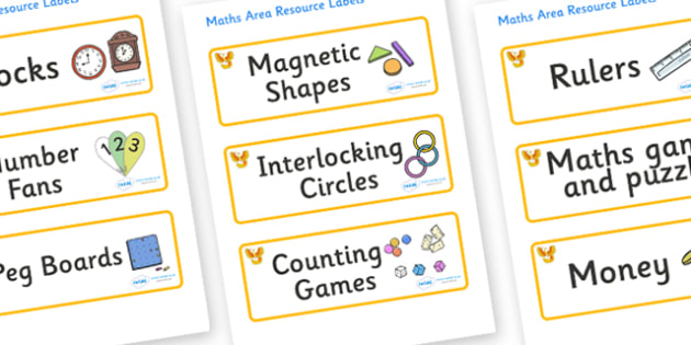 Phoenix Themed Editable Maths Area Resource Labels - Themed maths resource labels, maths area resources, Label template, Resource Label, Name Labels, Editable Labels, Drawer Labels, KS1 Labels, Foundation Labels, Foundation Stage Labels, Teaching Lab