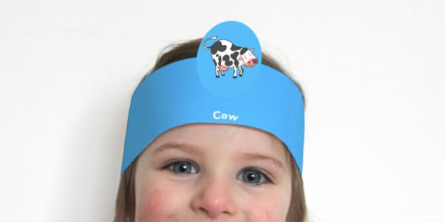 Role Play Headband to Support Teaching on Farmyard Hullabaloo - roleplay, props, story