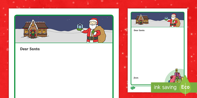 Letter To Santa Template Ks1 Resource Teacher Made