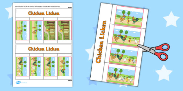 Chicken Licken Story Writing Flap Book - flap book, story, write
