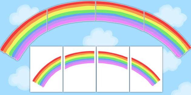 Large Rainbow for Display - large, rainbow, display, weather