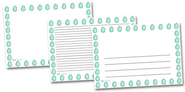 Spotty Easter Egg Landscape Page Borders- Landscape Page Borders - Page border, border, writing template, writing aid, writing frame, a4 border, template, templates, landscape
