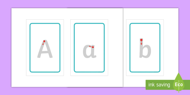Alphabet Letter Formation IKEA Tolsby Frame - Alphabet Letter