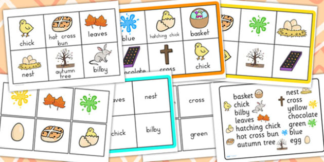 Easter Bingo Matching Game - easter, bingo, lotto, game, religion