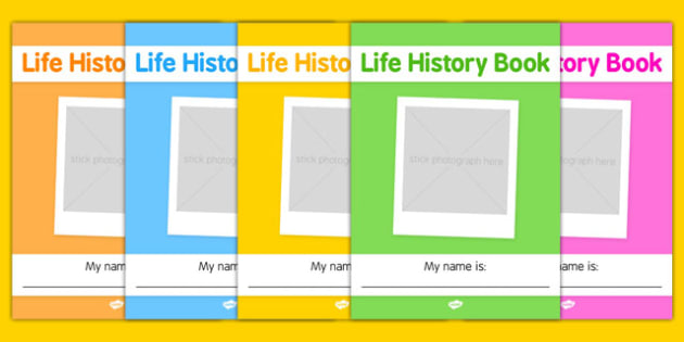 Elderly Care Life History Book Front Page - Elderly, Reminiscence, Care Homes, Life History Books