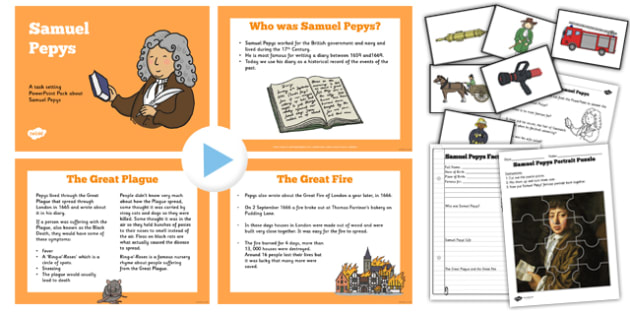 Samuel Pepys Significant Individual Lesson Teaching Pack - pack