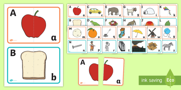 photo relating to Alphabet Matching Game Printable named Cost-free! - Higher and Minimal Scenario Letter Matching video game