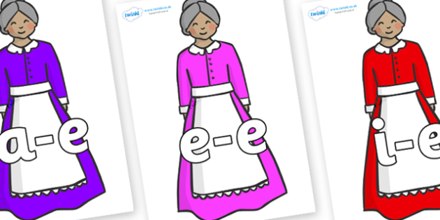 Modifying E Letters on Old Mother Hubbard - Modifying E, letters, modify, Phase 5, Phase five, alternative spellings for phonemes, DfES letters and Sounds