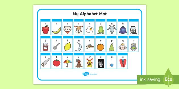 A-Z Alphabet Mat (Phase 1) - alphabet, education, home school, child development, children activities, free, kids, worksheets, how to write, literacy