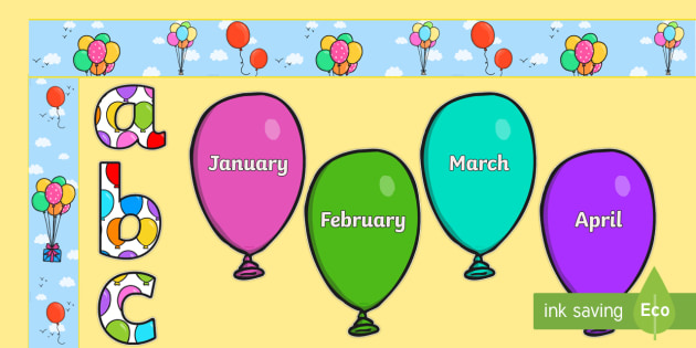 NEW Birthday Balloons Graph Display Pack