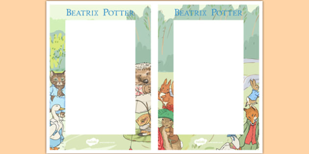 Beatrix Potter Editable Note - beatrix potter, author, editable notes, editable, edit, notes