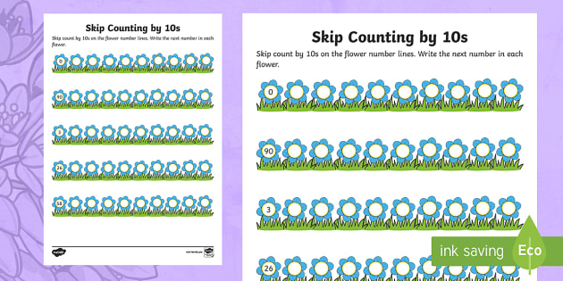 Mother's Day Skip Counting by 10s Worksheet / Worksheet