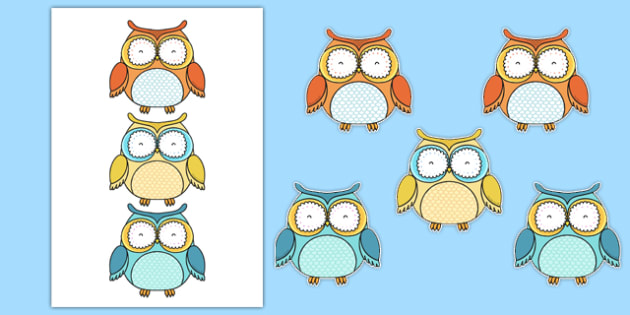 Superb Owl Themed Display Cut Outs - superb owl, themed, display, cut outs, super bowl