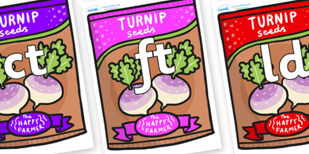 Final Letter Blends on Seeds - Final Letters, final letter, letter blend, letter blends, consonant, consonants, digraph, trigraph, literacy, alphabet, letters, foundation stage literacy