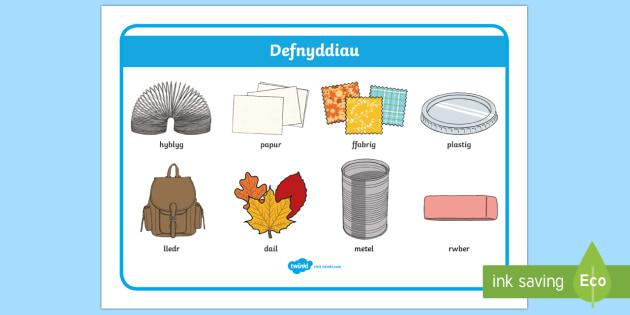 Defnyddiau a'u Priodweddau (Hyblyg)  - Gwybodaeth a dealltwriaeth o'r byd, Deunyddiau, Defnyddiau, ,Welsh