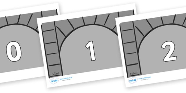 Numbers 0-50 on Crypts - 0-50, foundation stage numeracy, Number recognition, Number flashcards, counting, number frieze, Display numbers, number posters