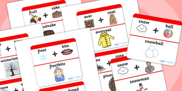 Winter Compound Word Matching Activity - winter, word matching, matching, compound, winter games, winter activities, seasons, compound words, games