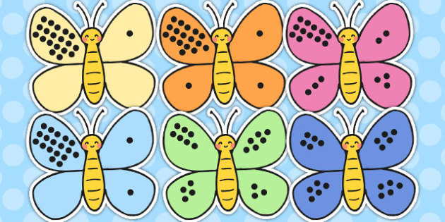 Number Bonds to Twenty on Butterflies - number bonds, twenty, butterflies
