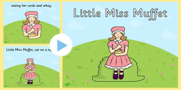 Little Miss Muffet PowerPoint - little miss muffet, nursery rhymes, nursery rhyme powerpoint, little miss muffet nursery rhyme powerpoint, miss muffit