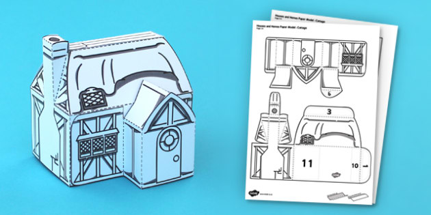 Houses and Homes Cottage Paper Model - activity, activities, craft