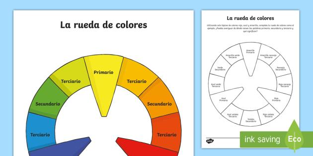 Ficha de actividad la rueda de colores color rueda teor a - Rueda de colores ...