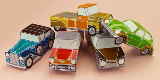 enkl vintage car paper model printables enkl arts crafts. Black Bedroom Furniture Sets. Home Design Ideas