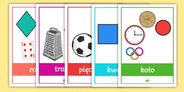Matematyka figury geometryczne materialy edukacyjne plakaty figury geometryczne przedmioty codziennego uytku ccuart Choice Image