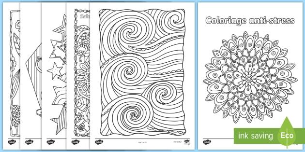 feuilles de coloriage anti stress dtente relaxation pause dessin motricit - Coloriage Dtente