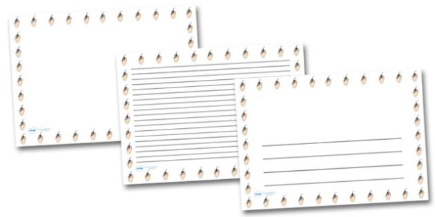 Hand Mouse Landscape Page Borders- Landscape Page Borders - Page border, border, writing template, writing aid, writing frame, a4 border, template, templates, landscape