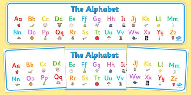 Alphabet Display Banner - alphabet, display banner, display, banner