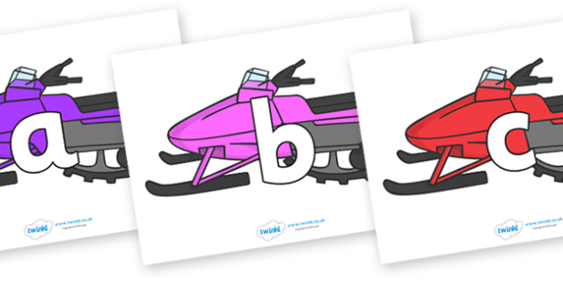 Phoneme Set on Snowmobiles - Phoneme set, phonemes, phoneme, Letters and Sounds, DfES, display, Phase 1, Phase 2, Phase 3, Phase 5, Foundation, Literacy