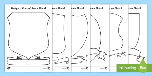 Shield design template   teaching resources.