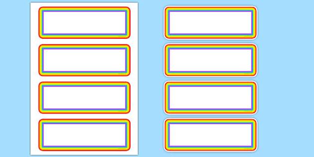 Editable Rainbow Labels - signs, labels, editable labels